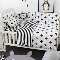 Baby Cot Bedding Set Soft Breathable Cotton Bed Linen For Children Including Quilt Pillow Bumper Flat Sheet Cradle Kit For Kids