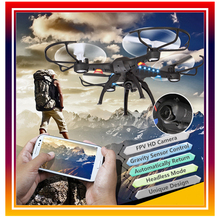 Dwi Dowellin Q8 WiFi FPV RC Drone with Camera 720P HD RC Quadcopter Toys Helicopter Phone Control Real Time Video Transmitter