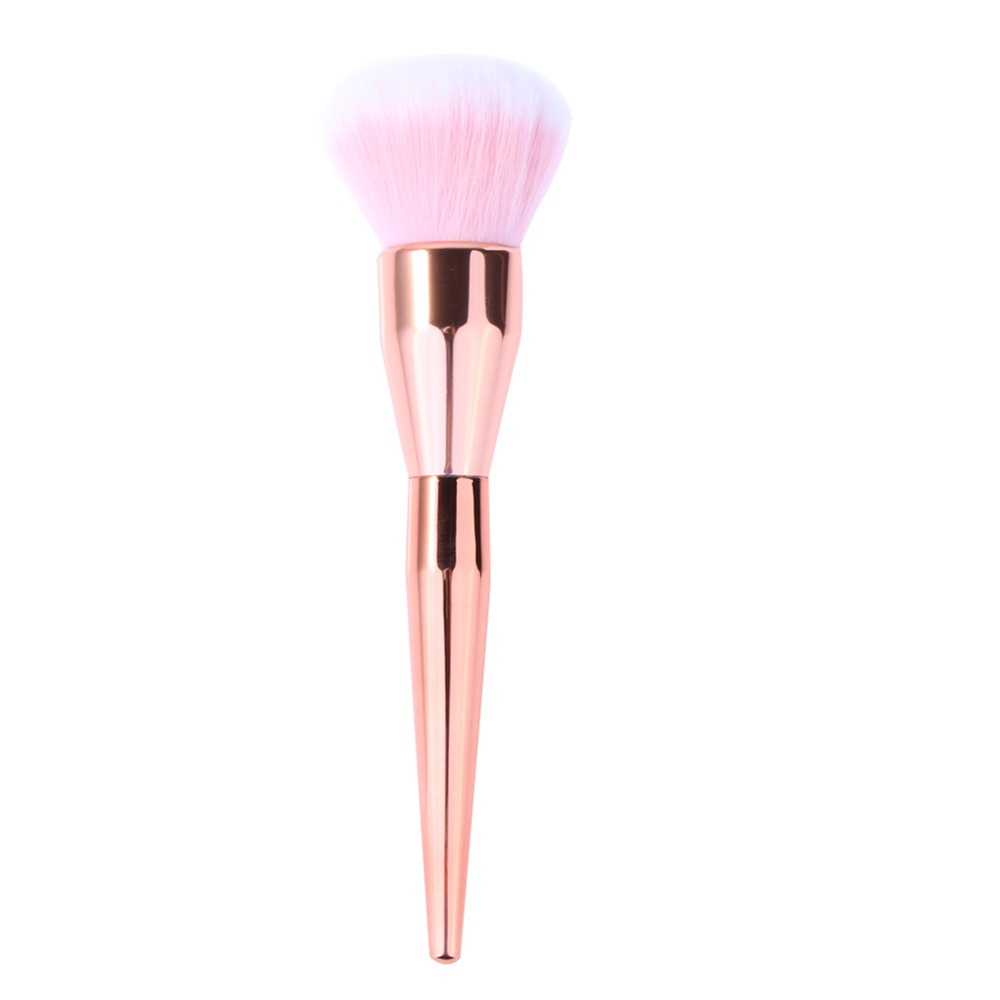 2017 Hot Rose Gold Powder Blush Brush Professional Makeup Brush 200 Flawless Blush Powder Brush Kabuki Foundation Make Up Tool 1pc professional makeup brush flawless blush powder pinceis brush rose gold metal large kabuki make up brush gub