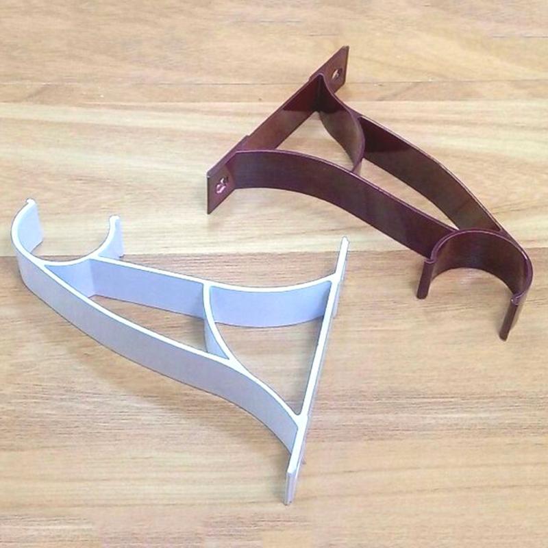 2pcs Aluminium Alloy Window Curtain Drapery Rod Poles Holders Brackets Curtain Support Hot Sale