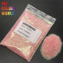 TCR17 переливчатая радуга розовый цвет Шестигранная форма блеск для ногтей искусство украшения лица блеск макияж хна материалы для рукоделия DIY