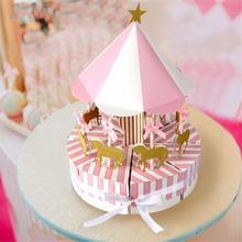 Новый Романтический карусель коробка конфет Сувениры и подарки сувенир для гостей вечерние способствует подарок коробка конфет Свадебные украшения