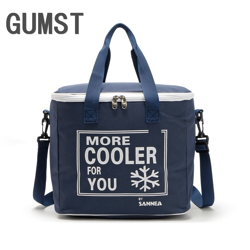 20L High Quality Rectanglar Cooler Bag Cool Insulated Shoulder Bag Picnic Lunch Box Ice Pack Thermal Shoulder Bag For Food Fruit