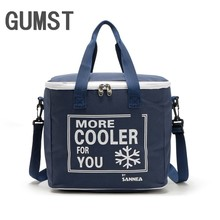 20L High quality rectanglar cooler bag cool insulated shoulder bag picnic lunch box ice pack thermal shoulder bag for food fruit(China)
