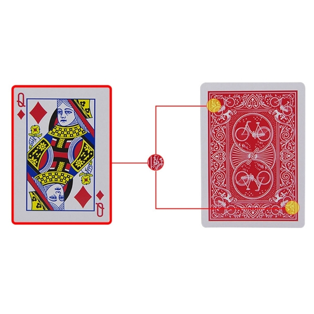 Горячая продажа OOTDTY новые секретные покерные карты видеть через игральные карты волшебные игрушки волшебные трюки