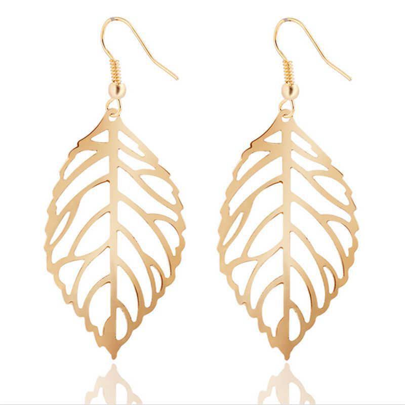 Neue Afrikanische Perlen Schmuck Sets Fashion Set Heben Die Blätter Hohl Baumeln Ohrringe Halskette Schmuck Sets Schöne Geschenk