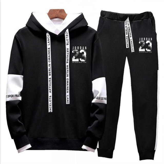451246f43aba 2018 Brand Tracksuit Fashion JORDAN 23 Men Sportswear Two Piece Sets All  Polyester Fleece Thick hoodie