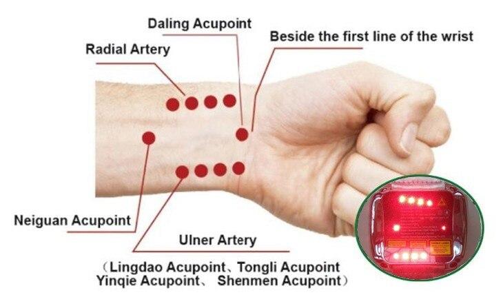 Instrumento de terapia a laser saudável do agregado familiar para tratar a hipertensão