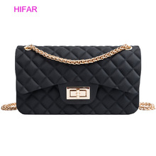 2019 New Fashion Mini Chain Crossbody Bags Jelly Bag For Women Diamond Lattice Flap HandBags Girl Clutch PVC Purse Shoulder Bags цена