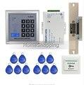 Barato! Brand NEW Rfid Door Kit Sistema de Control de Acceso Set + Golpe Door Lock + Botón de Salida de Rfid Teclado + EN STOCK