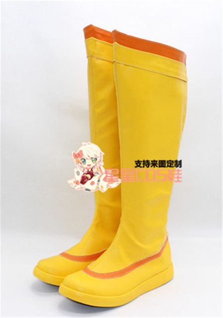 LOL Jinx The Loose Cannon White Halloween Cosplay Shoes Boots X002 ...