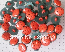 NB002 Kids Buttons 200pcs/lot Black Plastic Ladybird 13mm*15mm Fashion for Craft