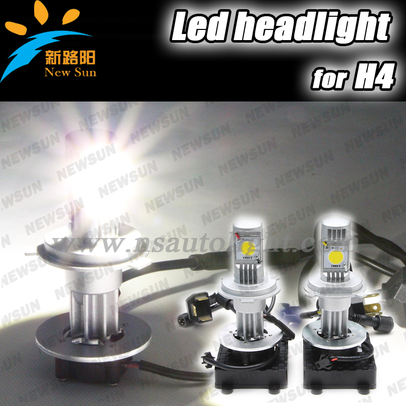 3600 LM Cree chip led Hi/Lo H4 headlight 9003/HB2/H4 LED bulbs 25W High/Low repacle conversion head light kit 6000k White lamp
