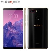 Оригинальный zte Нубия Z17S 5,73 дюймов полный Экран сотовый телефон 6 ГБ Оперативная память 64 ГБ Встроенная память Snapdragon 835 Android 7,1 Dual смартфон с к