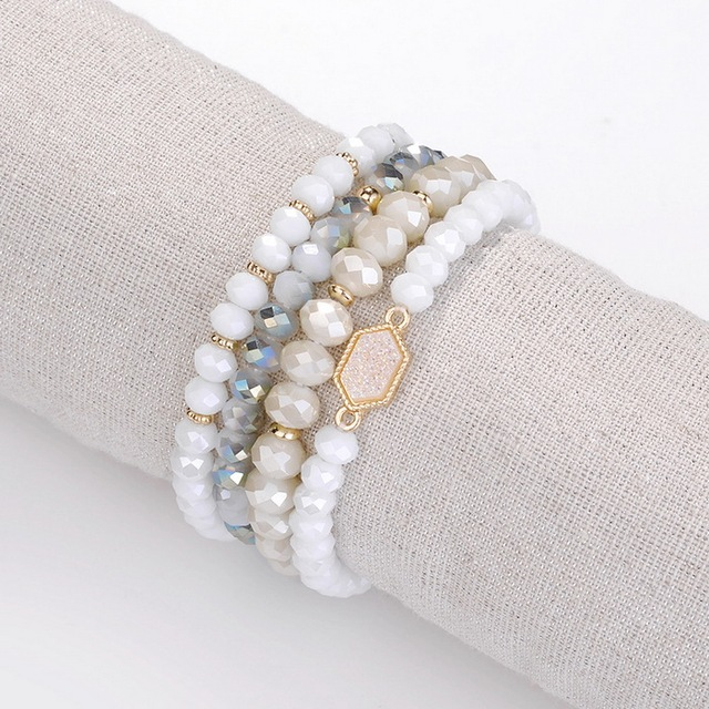 4 Pieces Faceted Natural...