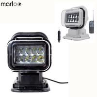 Marloo LED Marine Remote Control Spotlight Offroad Truck Car Boat Search Light 50W 360 Degree For Cars Auto Led Searching Light