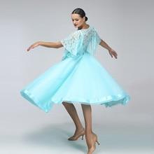 blue lace ballroom dress women ballroom dance dress ballroom competition dress ballroom tango dresses fringe foxtrot dance