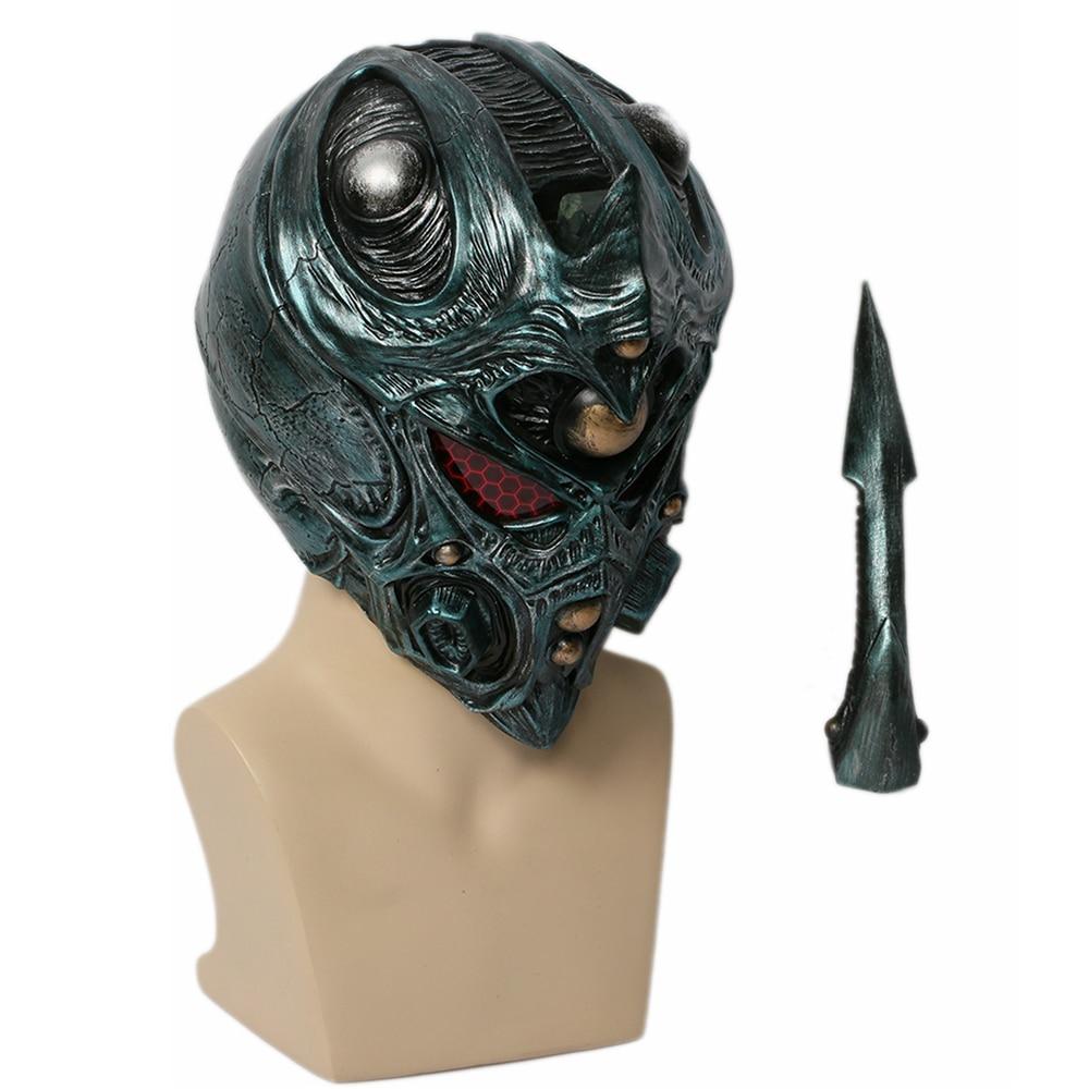 XCOSER Guyver Helmet Bio Booster Cosplay Full Head Mask Halloween Mask with LED