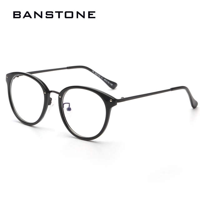 6d4bdb4dbf placeholder BANSTONE Fashion TR90 Computer Anti Radiation Glasses Women Nerd  Glasses Men Clear Lens Glasses Plain Glasses