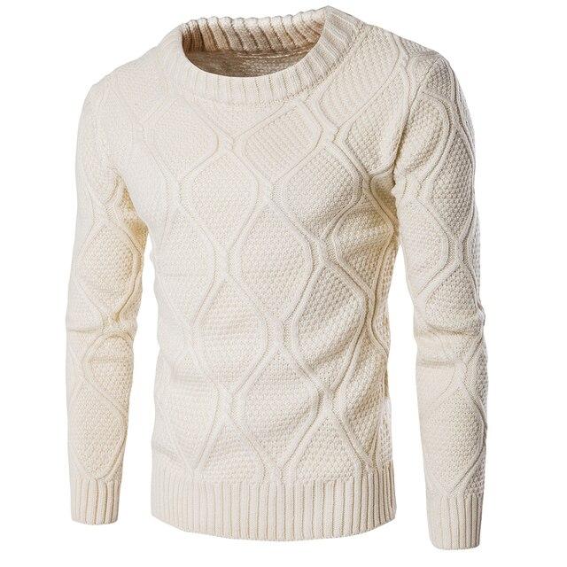 Мужчины Свитер С Ограниченной Топ О-Образным Вырезом Случайный Пуловеры 2016 мужская Зимний Свитер Толстый Теплый Свитер Мужчин