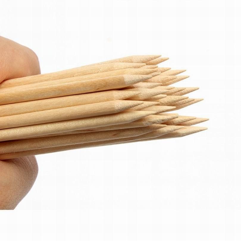 duplo end laranja madeira varas empurrador de cuticula dupla finalidade vara como aparador de unhas polones