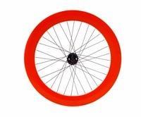 Fixed Gear wheel 70mm rim aluminum alloy flip flop wheelset road bike wheelset fixie bike wheelset