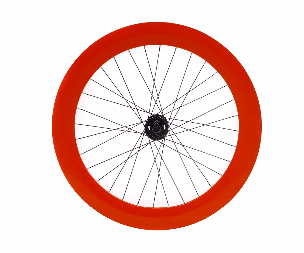 Fixed Gear wheel 70mm rim aluminum alloy flip-flop wheelset road bike wheelset fixie bike wheelset 700c rim wheel bike wheelset fixed gear wheels wheelset 32h flip flop hub wheel velo wheelset pursuit