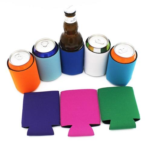 Presente de Casamento Cerveja em Garrafa Peças Cores Misturadas Personalizar Stubby Coolers Dobrável Pode Refrigerador Titular Neoprene Sublimada 10