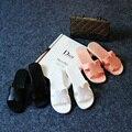 2016 deslizadores de las mujeres de moda de verano talón plano antideslizante zapatillas de casa de interior h B13