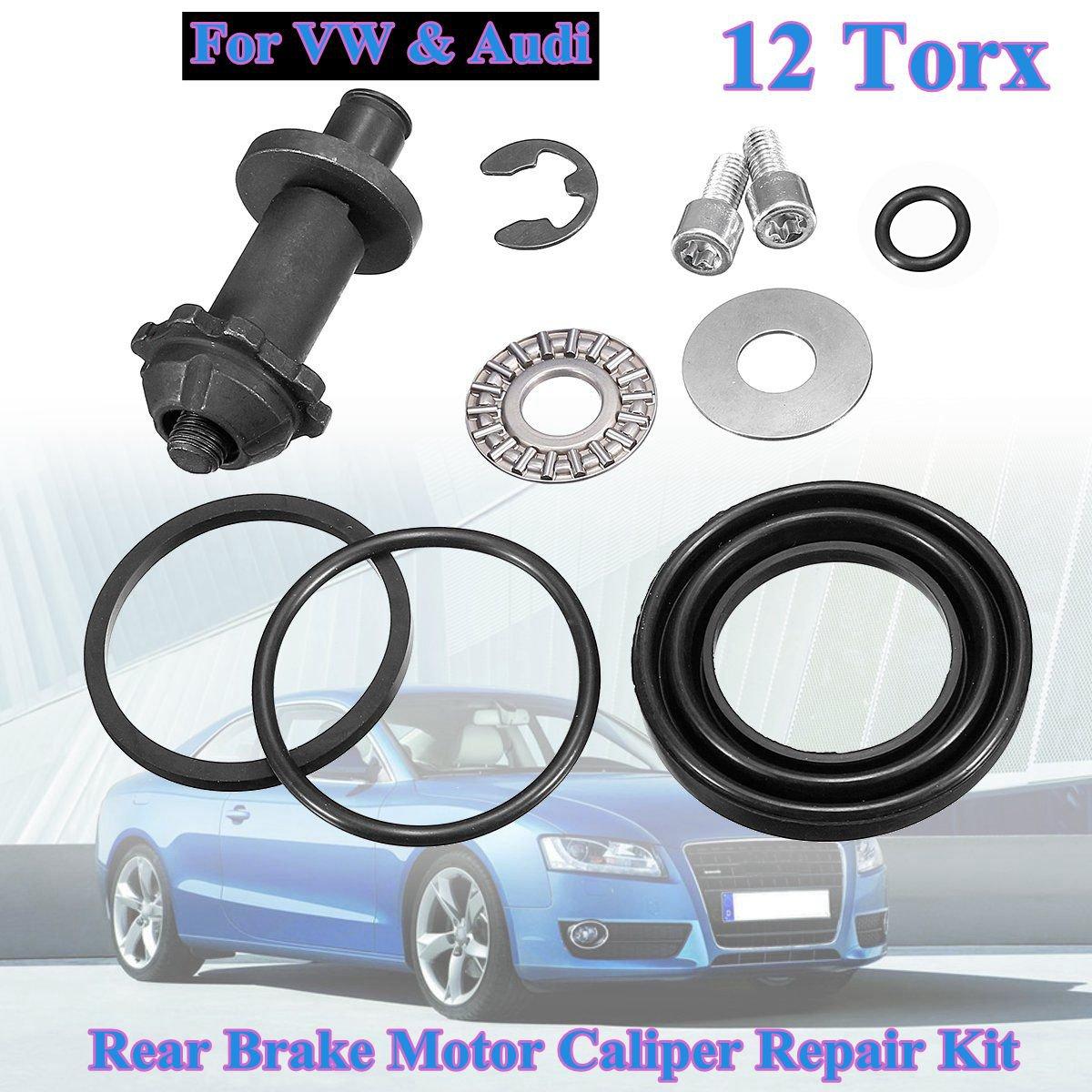 12 Torx dentes Pin kit de reparação de motor Traseiro pinça de Freio Motor Q3 B6 B7 Eletrônico para VW Passat CC Tiguan a4 S4 A5 S5 A6
