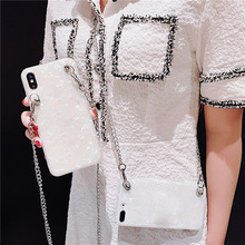 glitter foil shoudler chain strap tpu case for iphone 8 7 6 6s plus XS MAX XR X cover luxury bling soft silicone phone bag