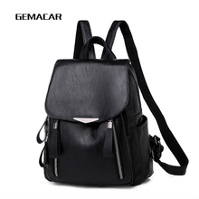 Female Backpack Imitation Leather Classic Womens Casual Daypack Designer High Quality Lady Elegant Red Black