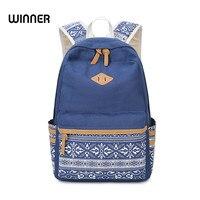 SUNBORLS Brand Canvas Printing Double Zipper Backpack Women School Bags For Teenage Girls Cute Rucksack Laptop