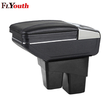 Car Armrest Box Central Console Arm Rest Box Cup Holder Ashtray Seat Armrest Styling For Honda Fit Jazz 2014 2015 2016 2017 2018 цена