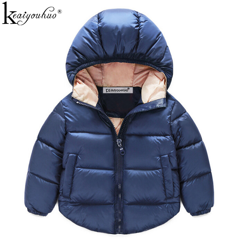 7da21d4cc4fdf 2018 Winter Kids Coats Fashion Long Sleeve Down Jackets For Girls Clothes  Cotton Jacket Children s Outerwear