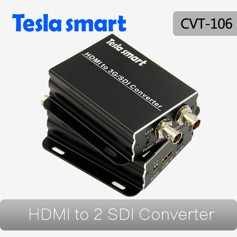 HDMI To 2 Port SDI Converter Box With Signals Converterfull 1080P Support Black