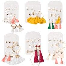 Fashion Statement Earrings 2019 Big Geometric earrings For Women Hanging Tassels Stud Earing modern Jewelry