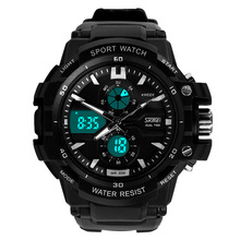 Readeel Dual Movement Sports Watches Men Electronic Digital Analog Shockproof Silicone Watch Waterproof Wristwatches for Mens