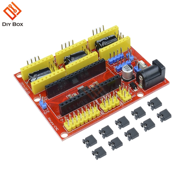 US $2 11 9% OFF I2C IIC CNC Shield V4 Engraving Machine 3 Axis Stepper  Motor Driver Expansion Board 3 Channel for Arduino GRBL Compatible-in Motor