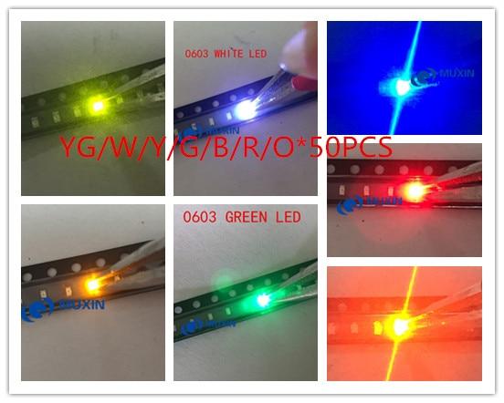 50 pcs SMD SMT 0603 Super bright White LED lamp Bulb NEW