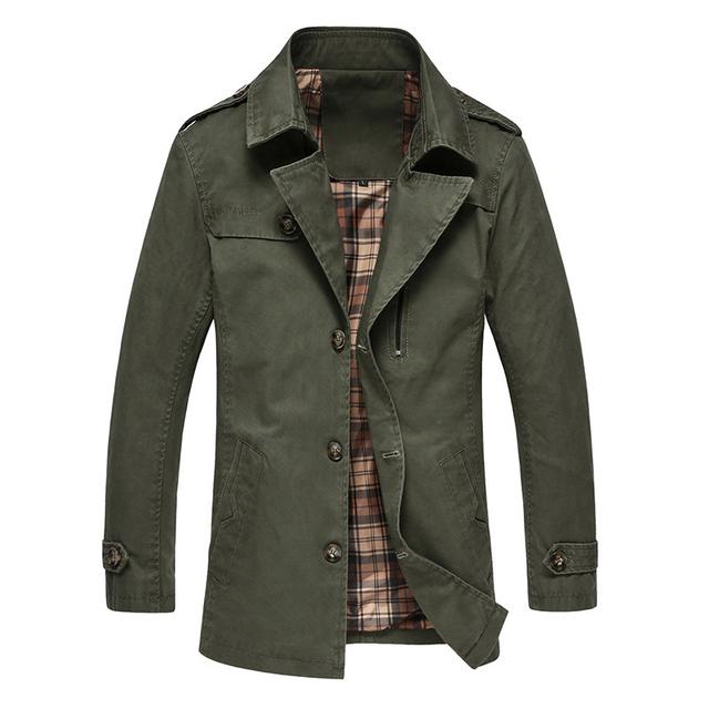 Nueva trinchera hombres de la capa 2016 chaqueta del otoño del resorte para hombre abrigo delgados largos de moda Plus Size M-3XL 4XL 5XL