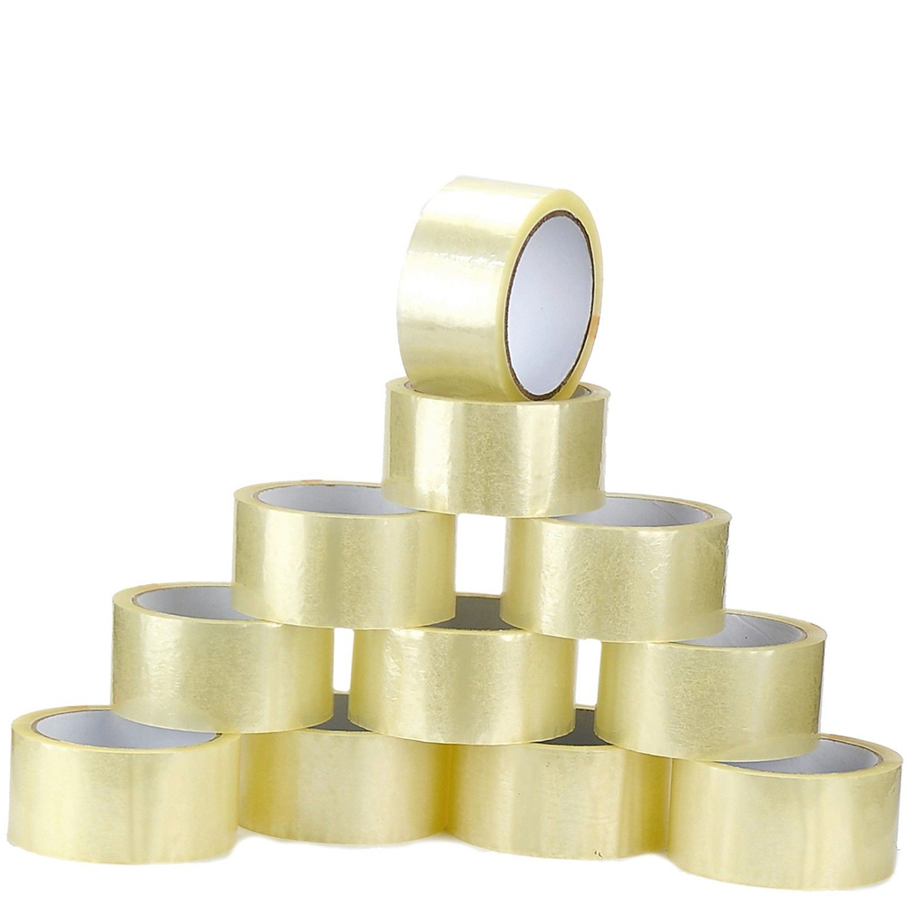 4 roll/Pack sealing tape OPP sealing tape packing label Clear Carton Box Sealing Packaging Tape Office Adhesvie Tape 2pcs free shipping custom tamper evident packing tape security packaging tapes printing void open sealing sticker label 30mm 15m