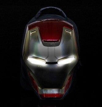 MK42 Iron Man Men's Backpack, Fashion Trend package  Men's Casual Canvas Travel Bag 3D Light Bag Action figure