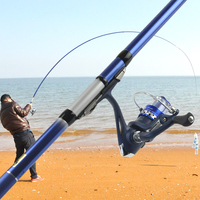 High Carbon 2.7m 3.6m 4.5m 5.4m Rock Fishing Rod Telescopic Carp Feeder Telesurf Spinning Pole Rod Ultra Light Hand Rod Tackles