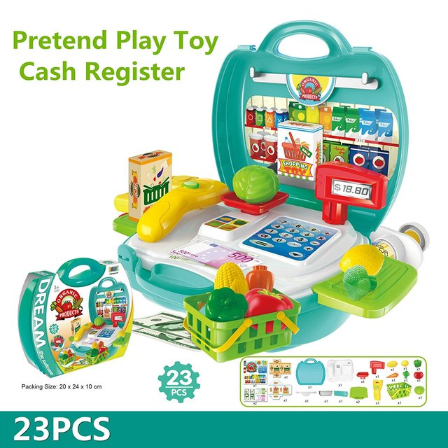 23pcs Multi Functional Educational Role Play Pretend Play Toy Cash