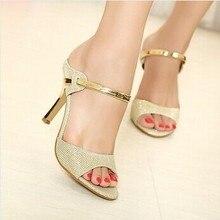 FANO New Arrival summer style Peep Toe Sweet Fashion Women's Sandals Thin Heel Pumps Princess High Heels Women Shoes LS106