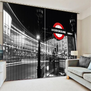 White and black builidng Bedding room 3D Curtains Curtains for living room Home Decoration