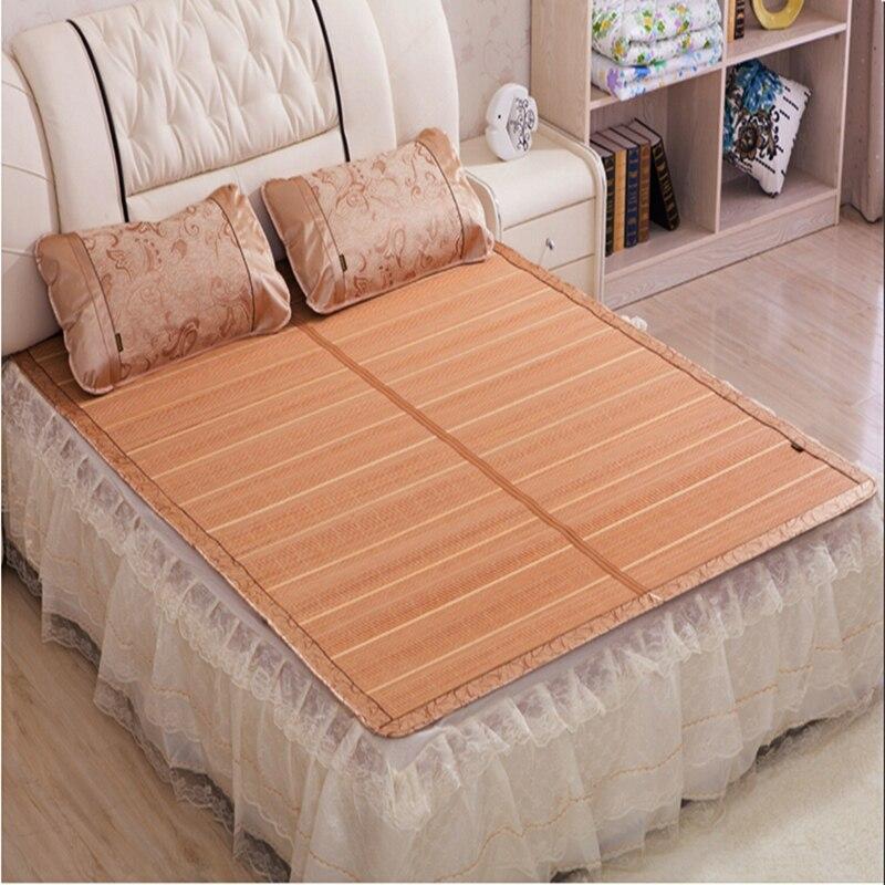 2016 NEW Chinese Bamboo Bed Mattress Floor Mat Queen Size Summer Folderable  Rattan Mat Folding Double Faced Mattress In Mattress Covers U0026 Grippers From  Home ...