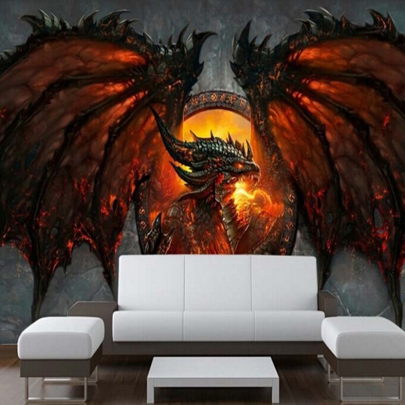 3D Dragon Photo Wallpaper Great Wallpaper Unique Interior Art Deco