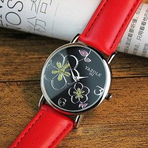 Image 5 - Montres à Quartz pour femmes, nouvelle marque, motif floral, nouvelle collection, décontracté